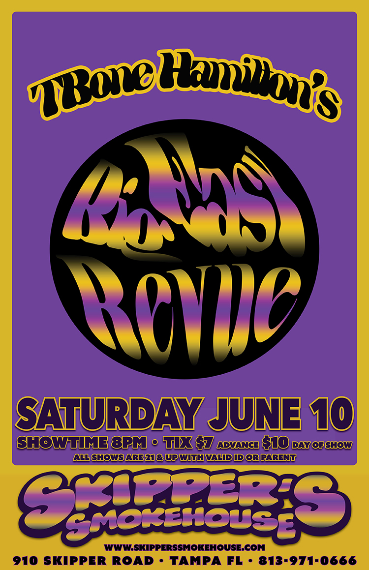 TBone Hamilton's Big Easy Revue – Live at Skippers Smoke House Sat June 10th 2017