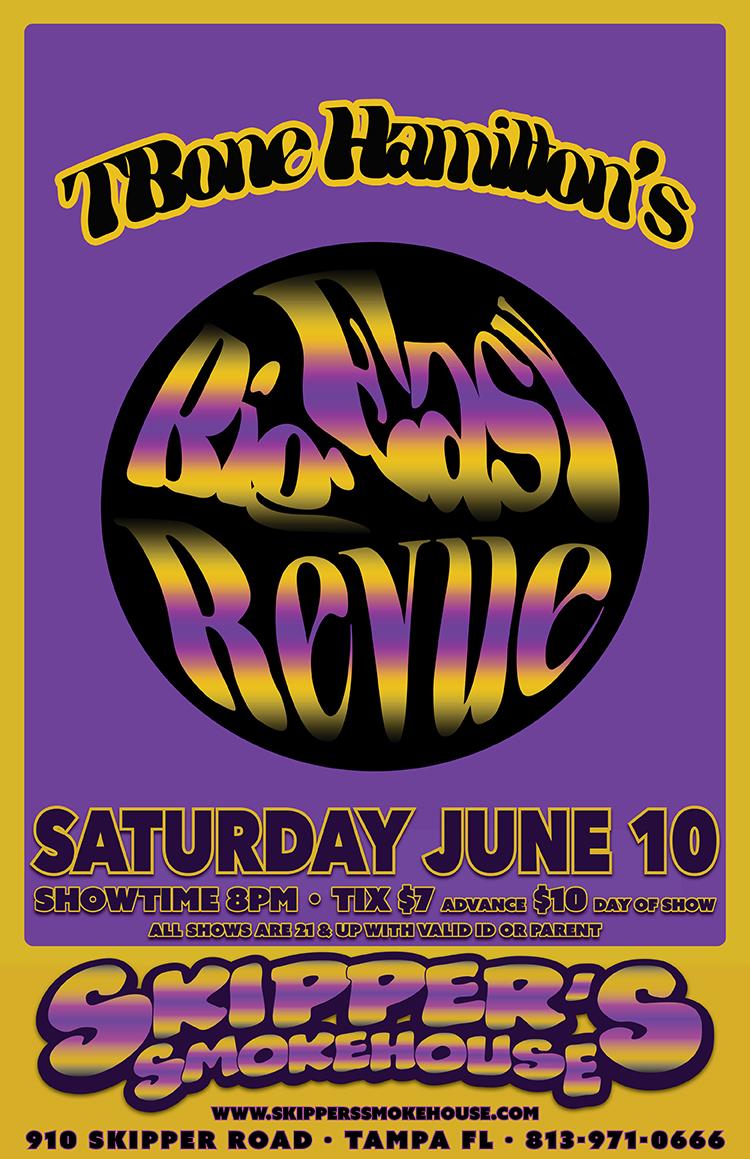 TBone Hamilton's Big Easy Revue – Live at Skippers Smoke House Sat June 10th 2017